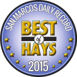 San Marcos Daily Record Best of Hays 2015 seal